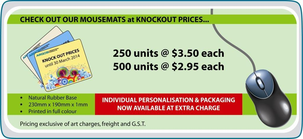Mouse Mats at KNOCK OUT prices! logo