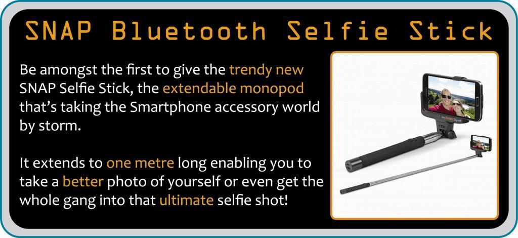 SNAP Bluetooth Selfie Stick logo